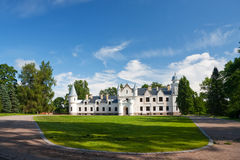 White castle in Estonia. A photo of an old small white castle in South of Estonia Royalty Free Stock Image