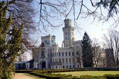 White castle. Beautiful white castle is standing in Hlubok Bohemia region Czech Republic stock image