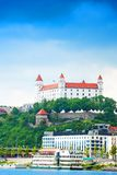 White castle in Bratislava Royalty Free Stock Photo