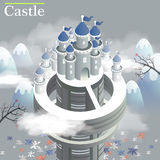 White castle 3d isometric infographic Stock Images