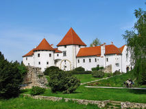 White castle in Varazdin Royalty Free Stock Photos