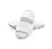 White casual home slippers Stock Photo