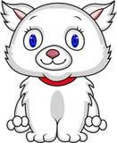 White cat cartoon Royalty Free Stock Photo
