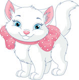 White Cat. Cute white cat on a white background vector illustration