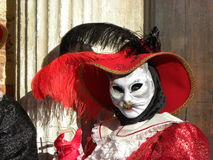 White cat female mask, Carnival of Venice Stock Photography