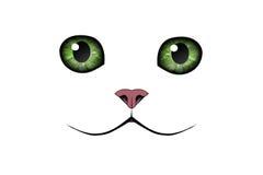 White cat vector illustration