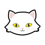 white cat kitty yellow eyes animal cute Royalty Free Stock Photo