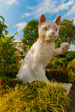 White cat monument is the Kuching South City Council Cat Statue. Sarawak Malaysia. His monument is a landmark for Kuching city and popular photo spot with Royalty Free Stock Images