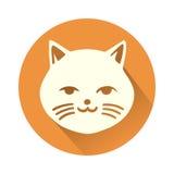 White cat symbol Royalty Free Stock Photo