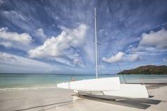 White catamaran Stock Photography