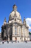 White cathedral of Dresden Stock Image