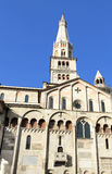 White cathedral of Modena Stock Image