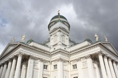 The white cathedral Tuomiokirkko in Helsinki, Finland Royalty Free Stock Photo