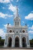 White Catholic Church in Thailand. White Catholic Church at Samut Songkharm, Thailand Stock Photography