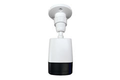 White CCTV Camera Royalty Free Stock Images