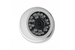 White CCTV Camera Stock Photography