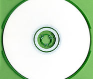White cd in green case Royalty Free Stock Photography