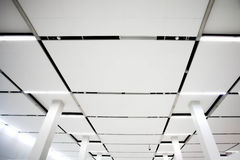 White ceiling inside Stock Photo