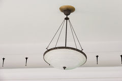 White ceiling lamp Stock Photography