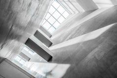 White ceiling, modern construction stock photo