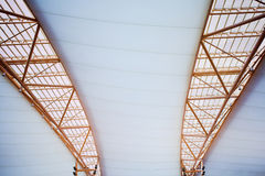 White ceiling of office building Stock Photo