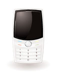 White cell phone Royalty Free Stock Photography