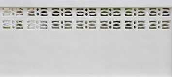White cement or concrete wall with air ventilation stock photos