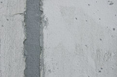 White Cement Wall Repair Royalty Free Stock Photos