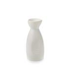 White ceramic bottle isolate on white background. White ceramic bottle on white background stock photography