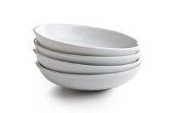 White ceramic bowl Stock Images