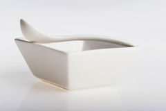 White ceramic bowl Stock Photo