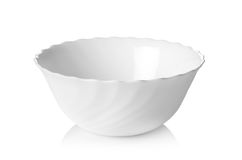 White ceramic bowl isolated on white background. White ceramic bowl isolated on a white background royalty free stock photo