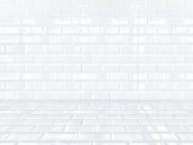 White ceramic brick tile room,background Royalty Free Stock Image