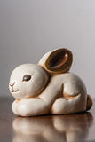 White ceramic bunny Stock Image