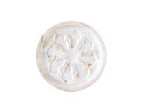 White ceramic coaster Stock Photography