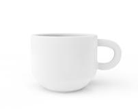 White ceramic coffee cup Stock Photos