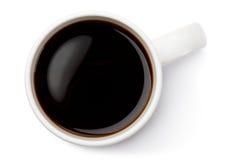 White ceramic coffee mug. Top view. Stock Photos