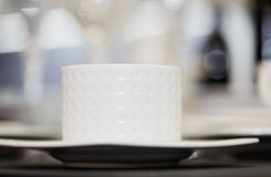 White ceramic cup Stock Photos