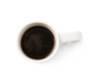 White ceramic cup of coffee isolated Stock Image