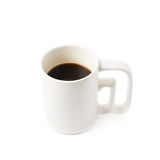 White ceramic cup of coffee isolated Royalty Free Stock Photos