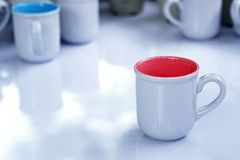 White ceramic cup Royalty Free Stock Photography