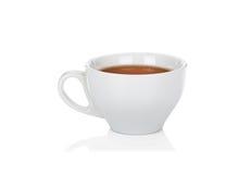 White ceramic cup of tea on white. White ceramic cup of black tea  on white background Royalty Free Stock Image