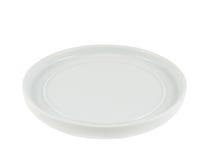 White ceramic dish plate Royalty Free Stock Image