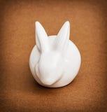 White ceramic easter bunny, spring time symbol Royalty Free Stock Photos
