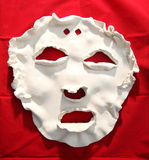 White ceramic face mask Royalty Free Stock Image