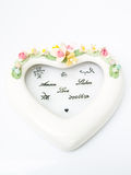 A white ceramic hearth with various language meaning of love Stock Photography