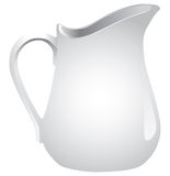 White ceramic jug liquid Royalty Free Stock Photos
