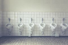 White Ceramic Male Toilet Royalty Free Stock Image