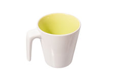 White ceramic mug. Isolated on white Stock Images