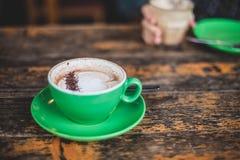 White Ceramic Mug With Cappuccino Royalty Free Stock Image